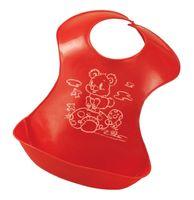 Слюнявчик пластиковый (арт. 34017; красный)