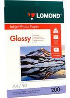 Фотобумага глянцевая односторонняя Lomond (50 листов; 200 г/м2; А4)