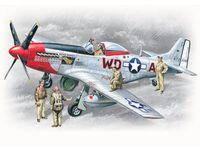 ВВС США Р-51 Д с пилотами и техниками (масштаб: 1/48)