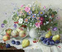 """Алмазная вышивка-мозаика """"Цветочно-фруктовый натюрморт"""""""