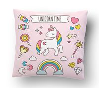 "Подушка маленькая ""Unicorn time"" (арт. 22; 15x15 см)"