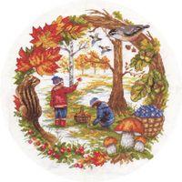 """Вышивка крестом """"Осенние хлопоты"""" (240x260 мм)"""