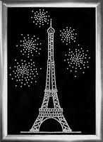 "Аппликация из страз ""Праздник в Париже"""
