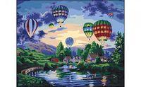 """Картина по номерам """"Воздушные шары над озером"""" (400x500 мм)"""