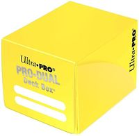 """Коробочка для карт """"PRO Dual Small"""" (120 карт; желтая)"""