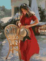 "Картина по номерам ""Незнакомка в красном"" (400х500 мм)"
