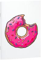 """Блокнот белый """"Пончик. Симпсоны"""" А5 (001)"""
