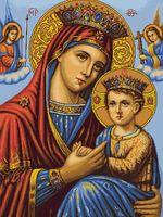 """Вышивка крестом """"Икона Божьей Матери"""" (380х525 мм)"""