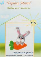 """Набор для валяния из шерсти """"Любитель морковки"""""""