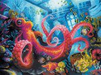 """Вышивка крестом """"Подводное царство"""" (400х300 мм)"""