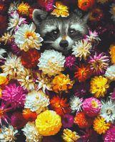 "Картина по номерам ""Енотик в цветах"" (400х500 мм)"