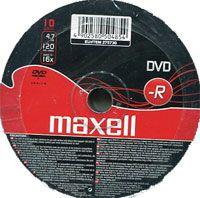 Диск DVD-R 4.7Gb 16x Maxell Bulk 10