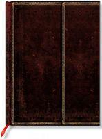 """Записная книжка Paperblanks """"Черная Марокканская кожа"""" в линейку (формат: 130*180 мм, средний)"""