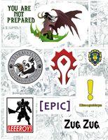 """Набор виниловых наклеек №104 """"World of Warcraft"""""""