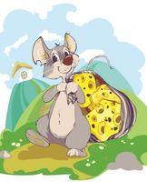 """Картина по номерам """"Мышка с сыром"""" (300х400 мм)"""