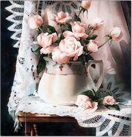 """Алмазная вышивка-мозаика """"Нежные розы"""""""