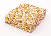 "Подарочная коробка ""Traditional"" (13х15х4 см; оранжевые элементы)"