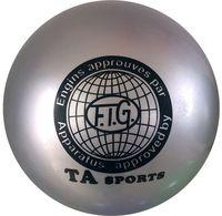 Мяч для художественной гимнастики RGB-101 (15 см; серый)