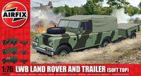 """Набор техники """"LWB Land Rover and Trailer (Soft Top)"""" (масштаб: 1/76)"""