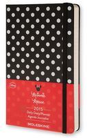 """Ежедневник Молескин датированный """"Minnie Mouse"""" в линейку (А5; черный; 2015)"""