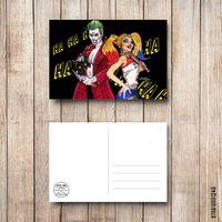 """Открытка """"Харли и Джокер"""" (арт. 240)"""