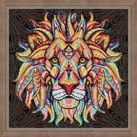 """Алмазная вышивка-мозаика """"Дух льва"""" (400х400 мм)"""