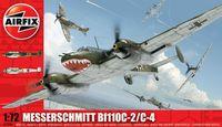 """Истребитель """"Messerschmitt Bf110C-2/C-4"""" (масштаб: 1/72)"""