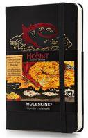 """Записная книжка Молескин """"The Hobbit II"""" нелинованная (карманная; твердая черная обложка)"""