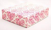 """Подарочная коробка """"Hearts and Butterflies"""" (16,5х20х5 см; розовые элементы)"""