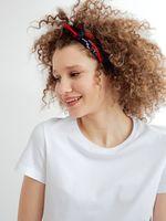 """Платок для волос """"Красный и синий"""""""