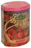 """Чай черный листовой """"Ahmad Tea. Клубничный крем"""" (100 г; в банке)"""