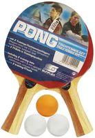 Набор для настольного тенниса Pong (2 ракетки+3 мяча; арт. 20115)