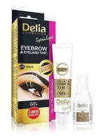 """Гель-краска для бровей и ресниц """"Delia cosmetics"""" тон: 1.0, чёрный"""