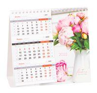 """Календарь-домик настольный на 2022 год """"Mono Premium. Peonies"""" (190x170 мм)"""