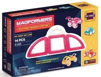 """Конструктор магнитный """"My First Buggy. Розовый"""" (14 деталей)"""