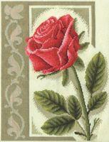 """Вышивка крестом """"Пурпурная роза"""""""