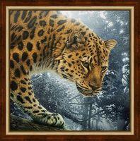 "Алмазная вышивка-мозаика ""Охотник джунглей"" (400х400 мм)"
