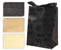 """Пакет бумажный подарочный """"Happy Cristmas"""" (в ассортименте; 11,5х16х6 см; арт. ABD600380)"""