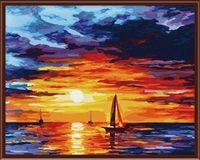 """Картина по номерам """"Закат на море"""" (400х500 мм)"""
