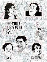 """Набор виниловых наклеек №212 """"Memes. True story"""""""