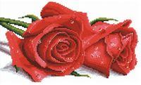 """Вышивка крестом """"Красные розы"""" (410х270 мм)"""