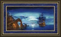 """Вышивка крестом """"В свете луны"""" (285x560 мм)"""