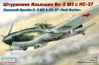 Штурмовик Ильюшин Ил-2 М3 c НС-37 (масштаб: 1/72)