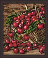 """Картина по номерам """"Спелая вишня"""" (400х500 мм)"""