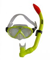 Набор для плавания 24106 (маска+трубка; силикон; неоново-жёлтый)