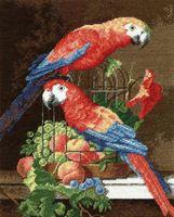 """Вышивка крестом """"Пара попугаев"""""""