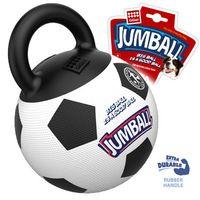 """Игрушка для собак """"Мяч с захватом"""" (26 см; бело-черный)"""