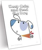 """Открытка """"Keep calm and feed the dog"""" (арт. 1318)"""