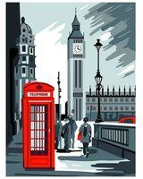 "Картина из песка ""Лондон будка"" (300х400 мм)"