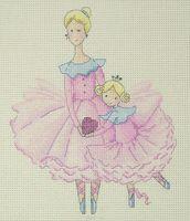 "Вышивка крестом ""Мама и дочка"""